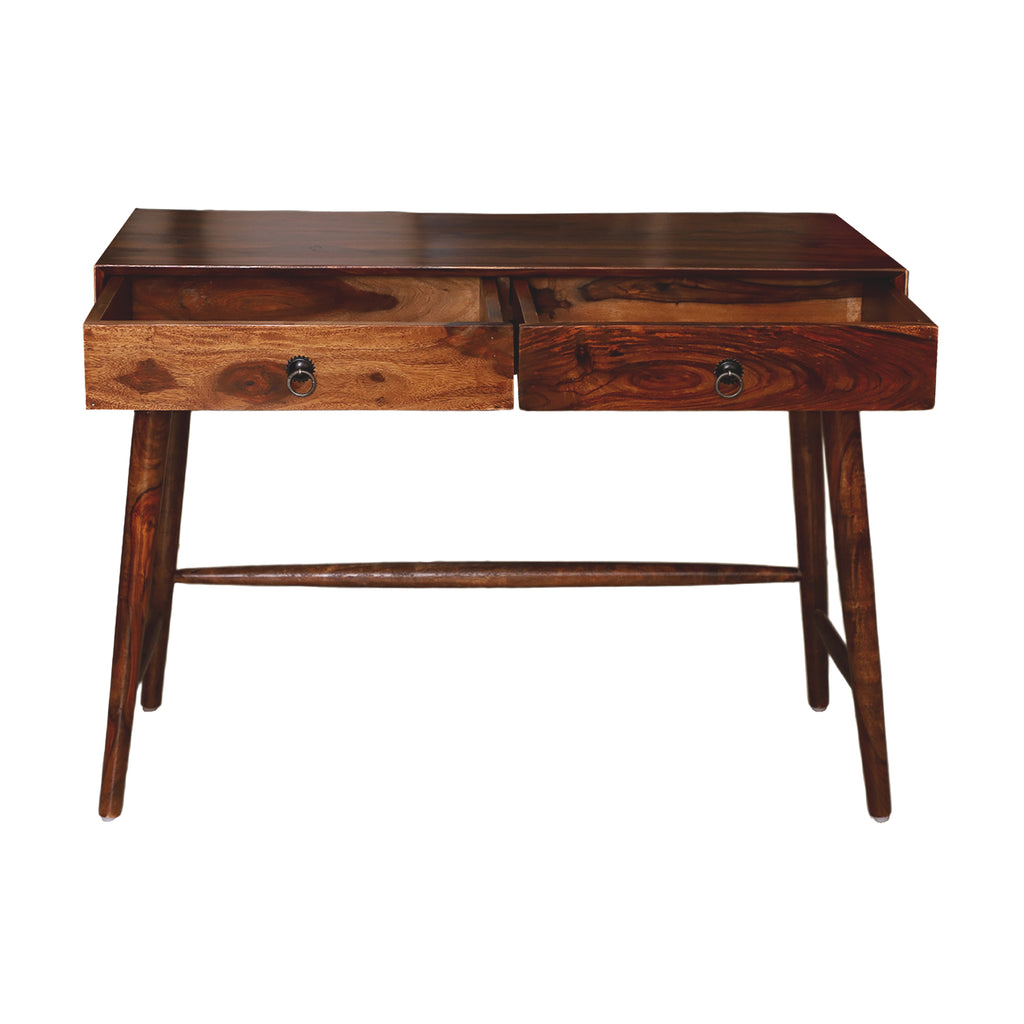 Longridge Solid Wood Two drawer wooden console Table
