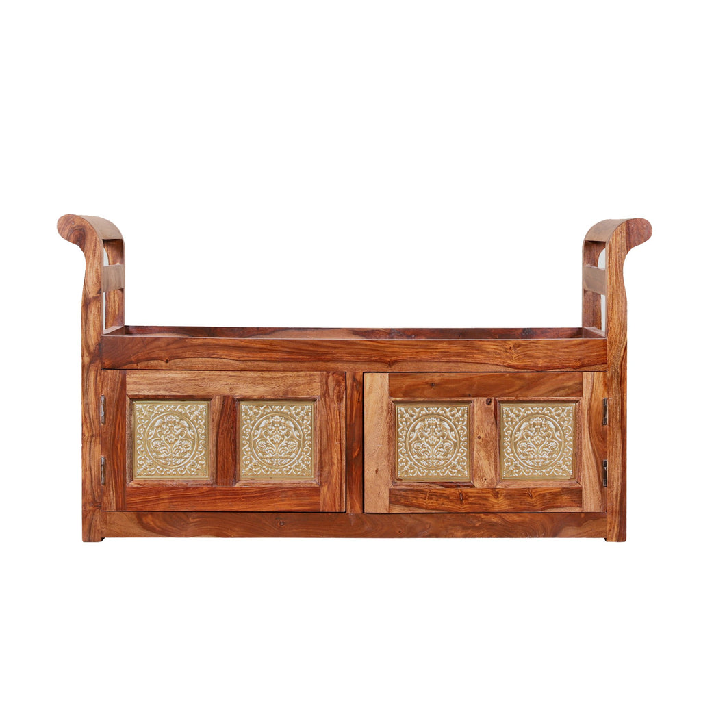 Lucasville Solid Wood Cushion Storage Setti - Woodcrony