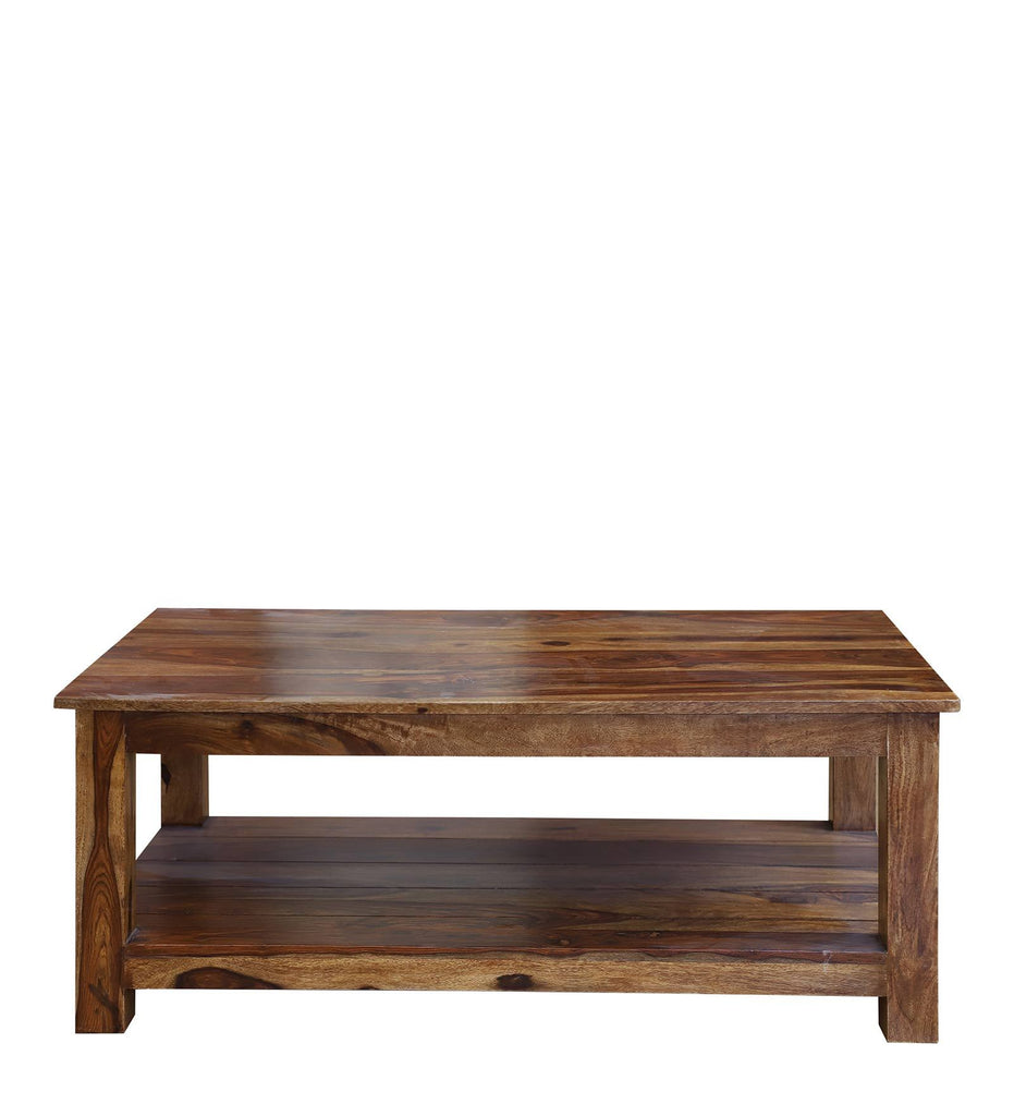 Texas Solid Wood Center Table in Honey Oak Finished by Woodcrony