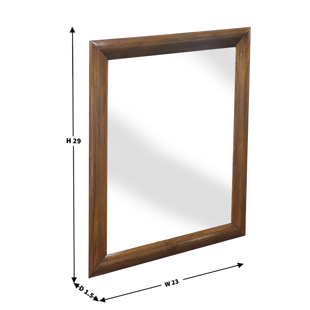 Sandhill wooden Frame Wall Mirror In natural finish