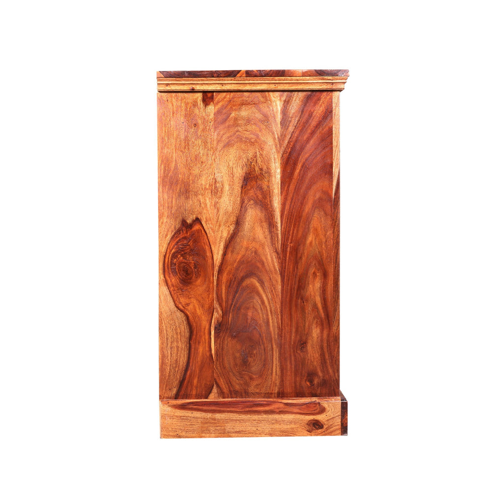 Bennis Solid Wood Side Board/Cabinet in Honey oak Finished by Woodcrony - Woodcrony