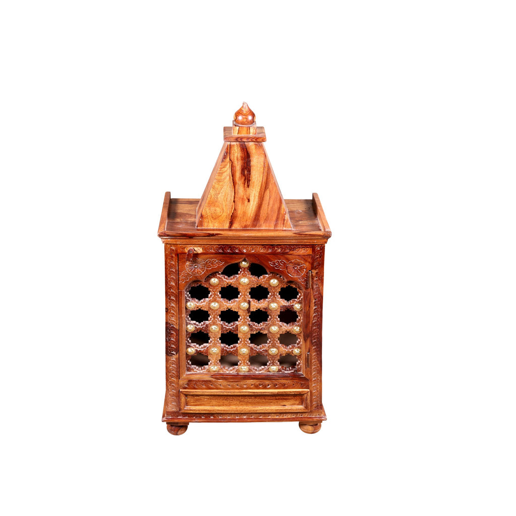 Almody Solid Wood Temple in Honey Finished by Woodcrony - Woodcrony