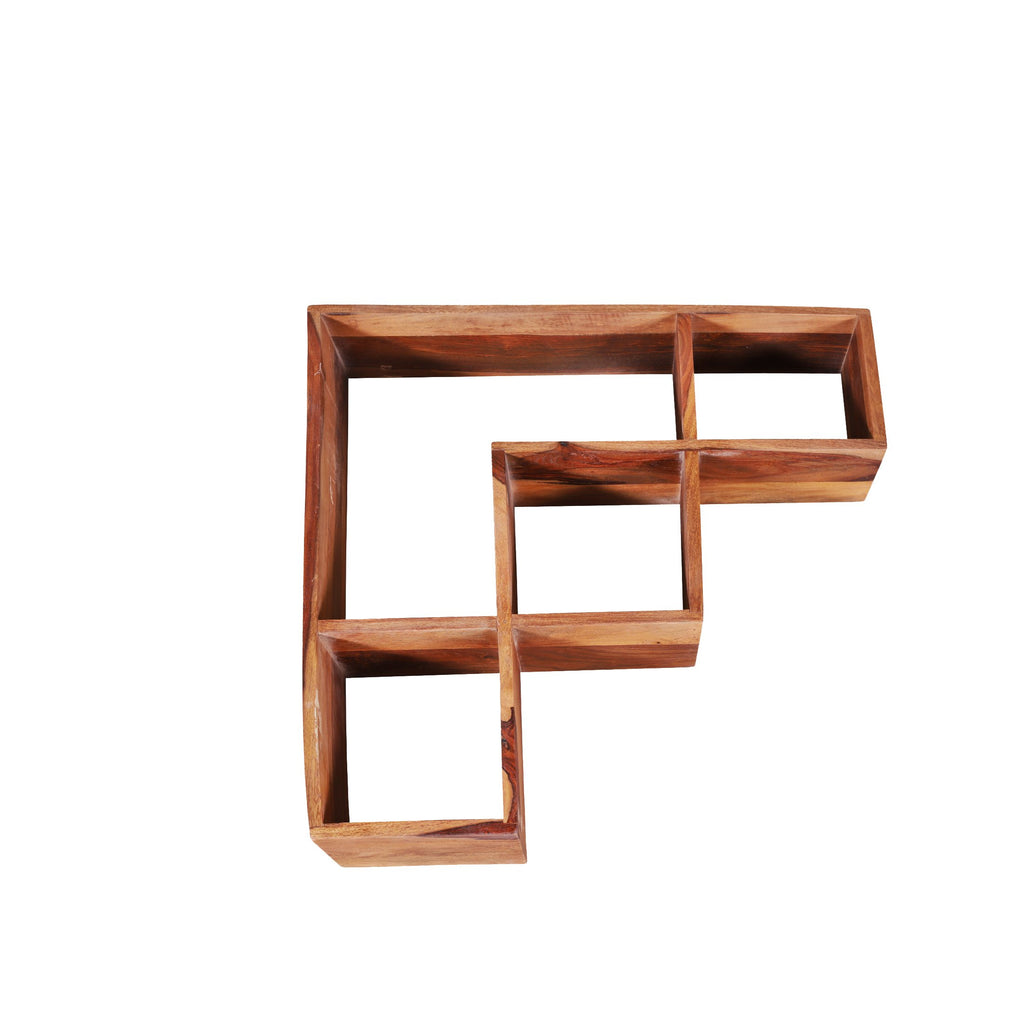 Bezerra Solid Wood Wall Shelf in Natural Finish by Woodcrony - Woodcrony
