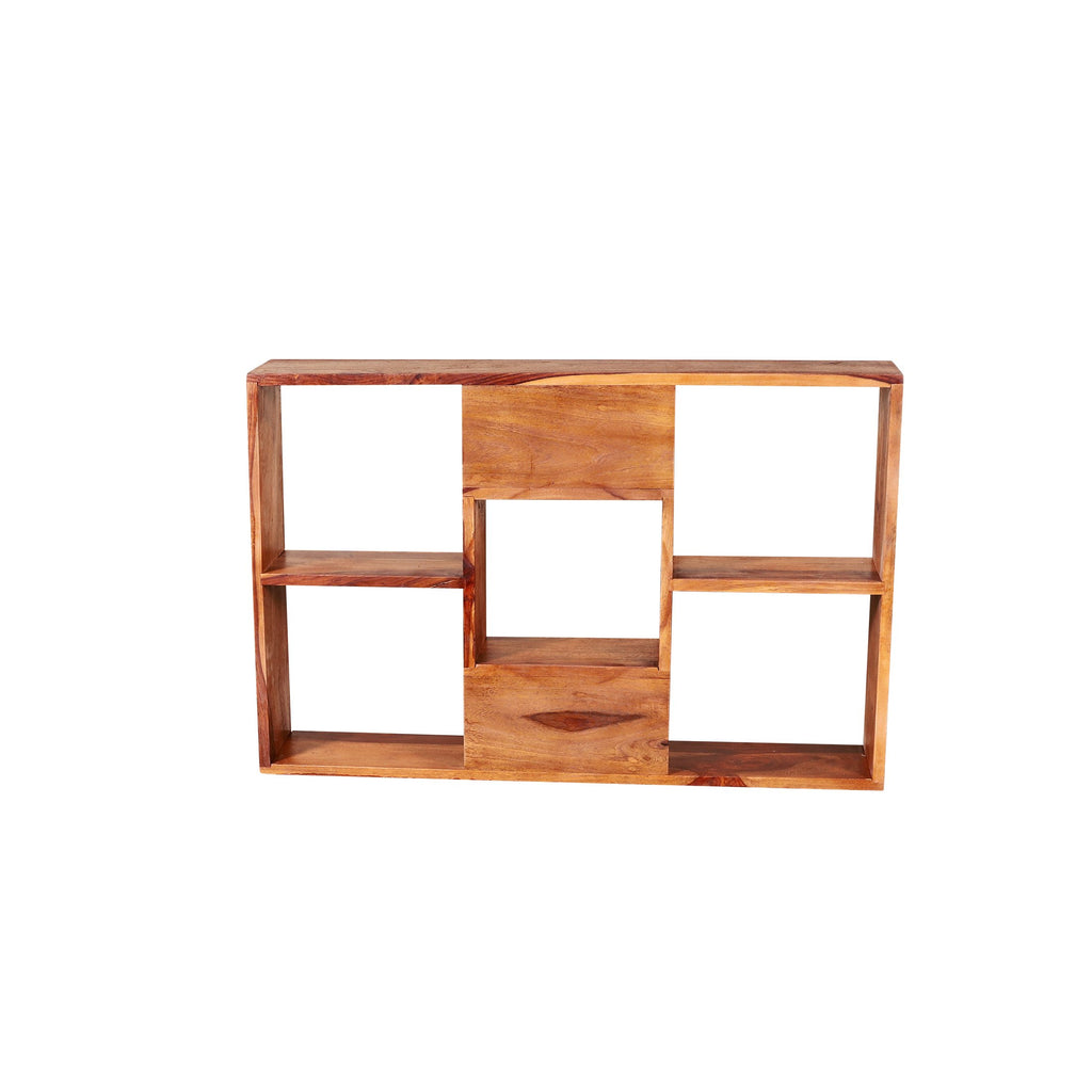Gracie Solid Wood Wall Shelves in Natural Finish By Woodcrony - Woodcrony
