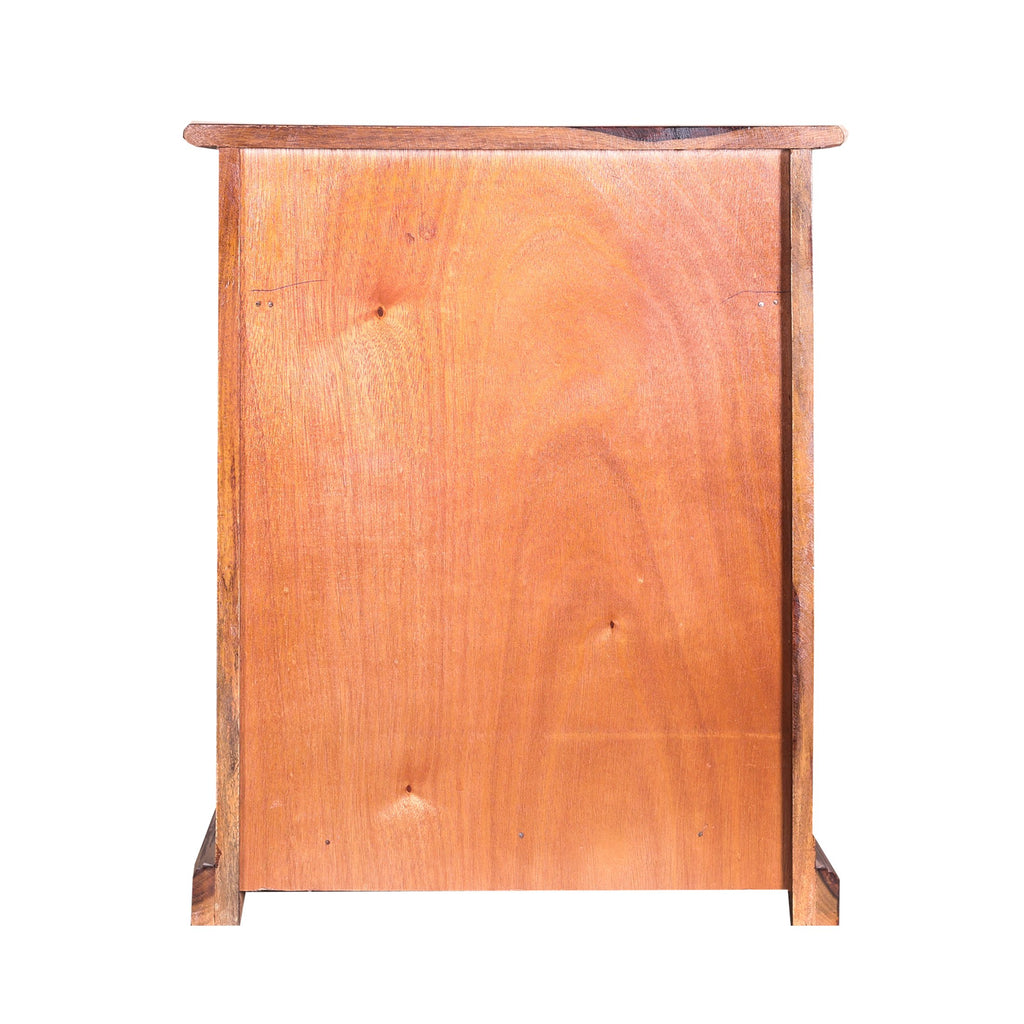 Solid Wood Book Case with wooden jali in Natural Finish - Woodcrony