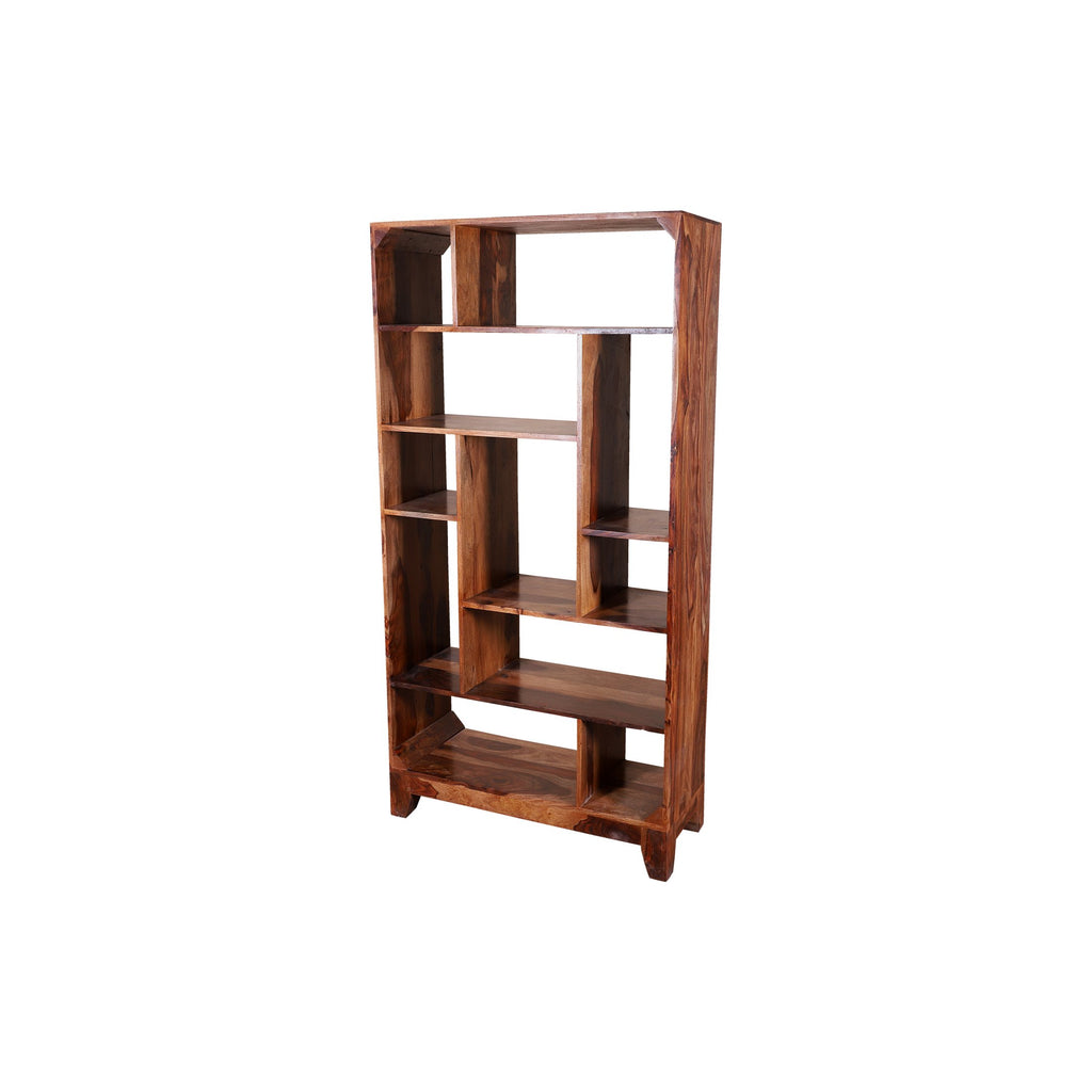 Bottlesfoard Solid Wood Book Shelf in Natural Finish - Woodcrony