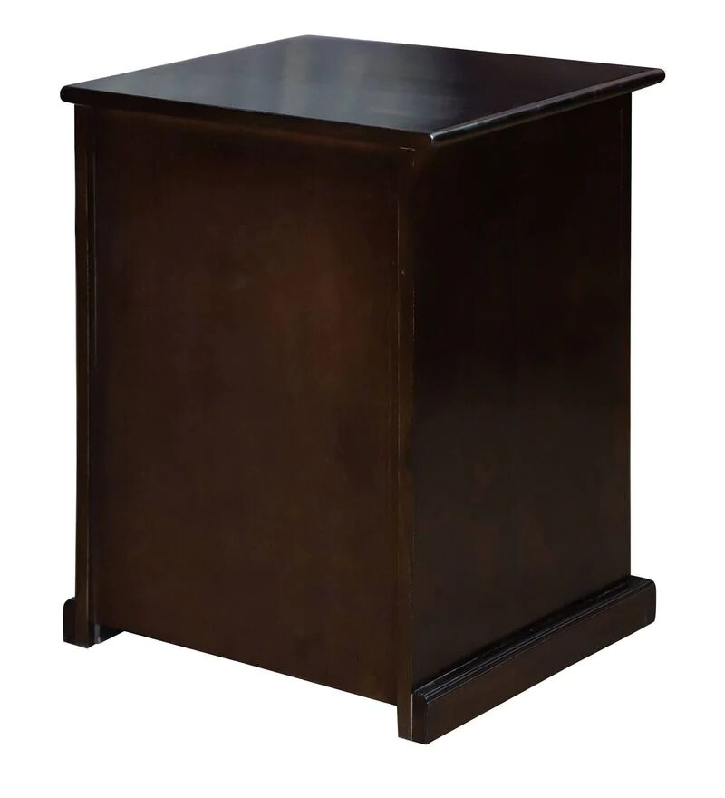Bardi Solid Wood One Door and One Drawer Bed Side Table in Wallnut