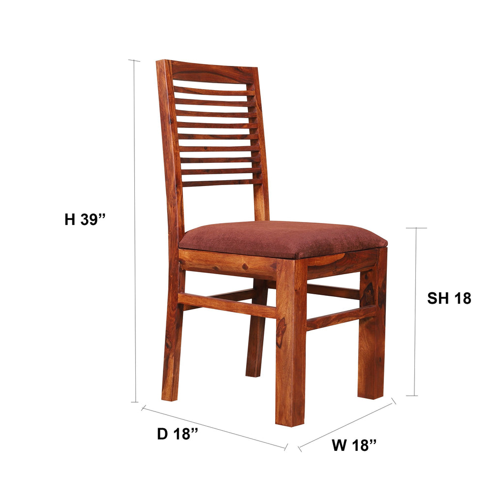 Silas Solid Wood Upholstery Dining Chair - Woodcrony
