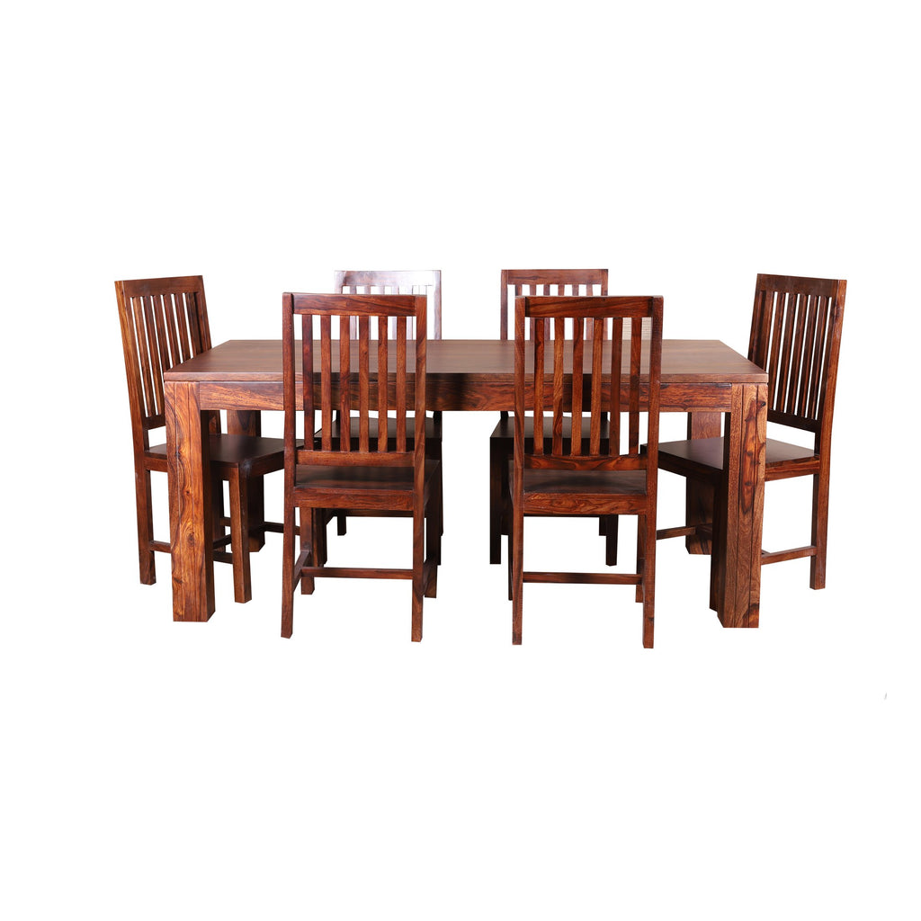 Silas Solid Wood Six Seater Dining Set - Woodcrony
