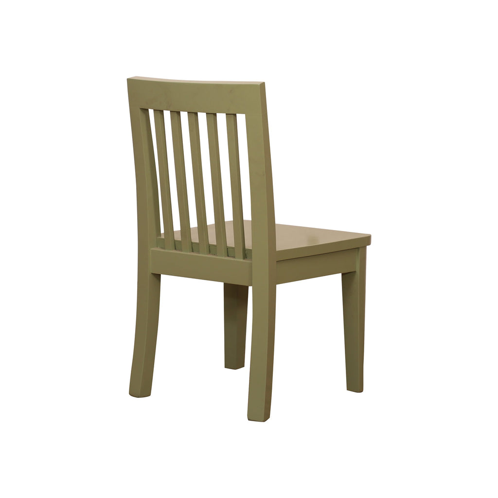 Infant Study Chair of Light Green color in white ash finish - Woodcrony