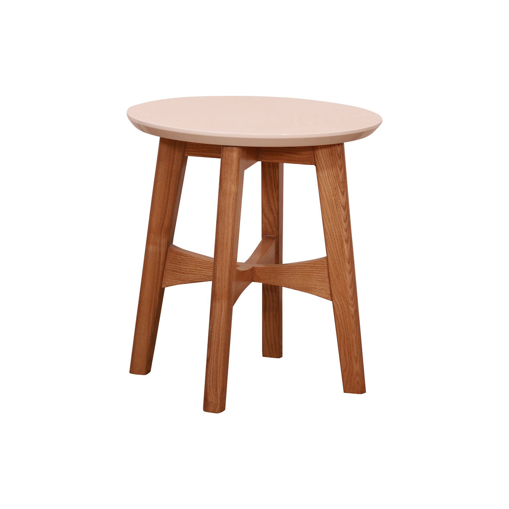 Lou Cross Bottom Tables in white ash finish - Woodcrony