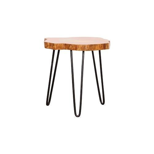 Rambe Coffee table in hardwood with color top - Woodcrony