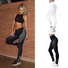 Load image into Gallery viewer, Rainbow Reflective Leggings