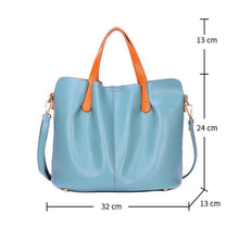 Load image into Gallery viewer, 2 In 1 Leather Shopper Tote Bag
