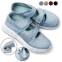 Load image into Gallery viewer, Breathable Mesh Hook Loop Flat Sneakers