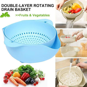 Double-layer Rotating Drain Basket
