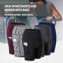 Load image into Gallery viewer, High Waist Workout Running Yoga Shorts