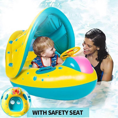 Baby Swim Ring Sunshade Baby Float Boat Seat
