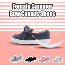 Load image into Gallery viewer, Female Summer Bow Canvas Shoes