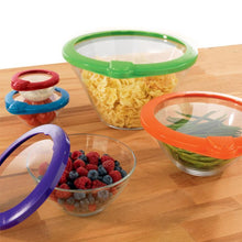 Load image into Gallery viewer, Reusable Fresh-keeping Silicone Lids - 5 pieces