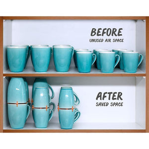 Coffee Mug Organizers and Storage, (6pk)