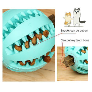 Dog Chewing Rubber Ball