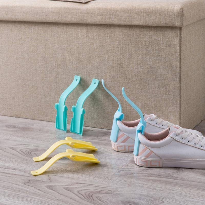 onewell Calzascarpe Lazy Shoe Helper Easy On and Off Shoe Lifting Helper Comfort Grip Shoe Horn per tutte le scarpe 1 confezione