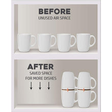 Load image into Gallery viewer, Coffee Mug Organizers and Storage, (6pk)
