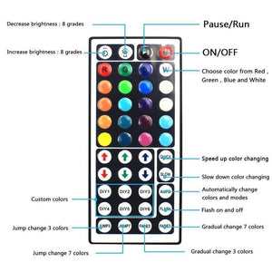 Colorful LED remote control light strip