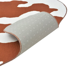 Litedpot Shaped Rug 110x150 cm Brown Cow Print