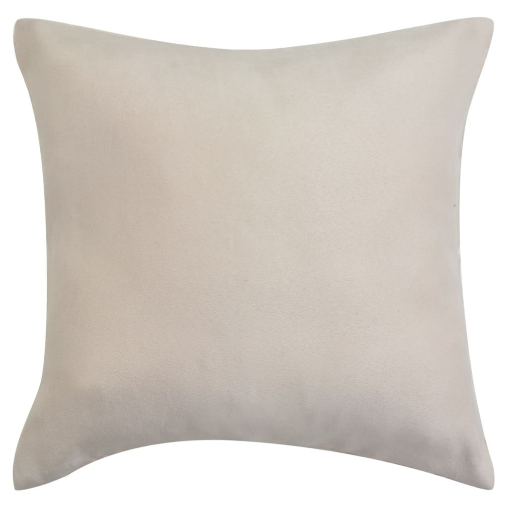 Litedpot Cushion Covers 4 pcs 40x40 cm Polyester Faux Suede Beige