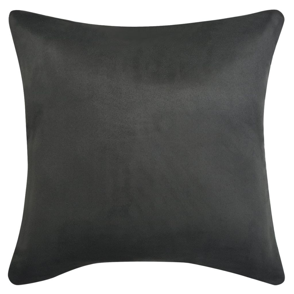 Litedpot Cushion Covers 4 pcs 50x50 cm Polyester Faux Suede Anthracite