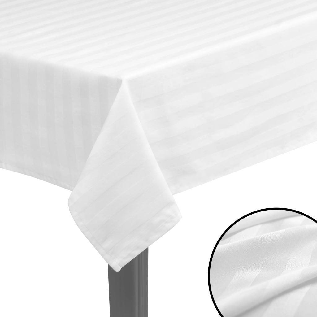 Litedpot 5 pcs Tablecloths Cotton Satin White 130x130 cm
