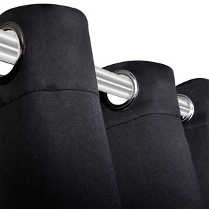 Litedpot Blackout Curtains 2 pcs with Metal Eyelets 135x175 cm Black