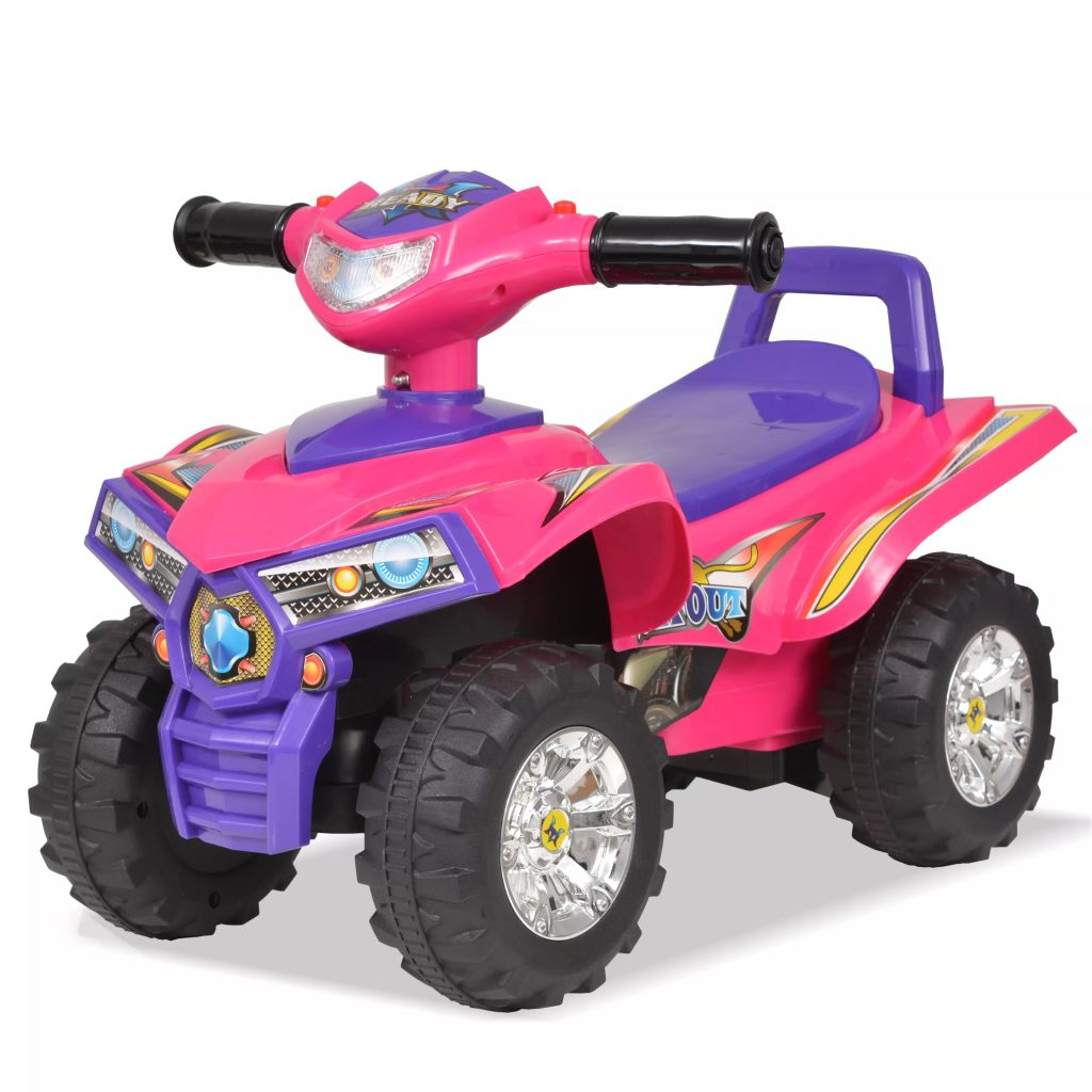Litedpot Children's Ride-on ATV with Sound and Light Pink and Purple