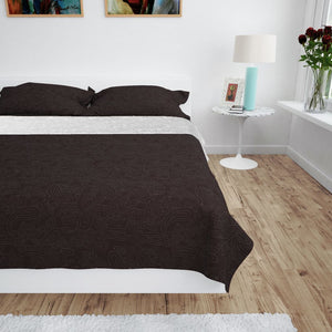 Litedpot Double-sided Quilted Bedspread 230x260 cm Cream and Brown