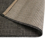 Litedpot Area Rug Sisal Look Indoor/Outdoor 140x200 cm Dark Grey