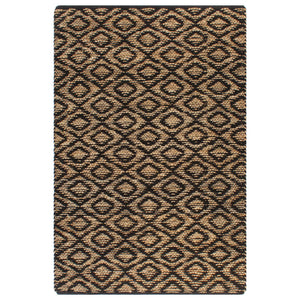 Litedpot Hand-Woven Jute Area Rug Fabric 160x230 cm Natural and Black