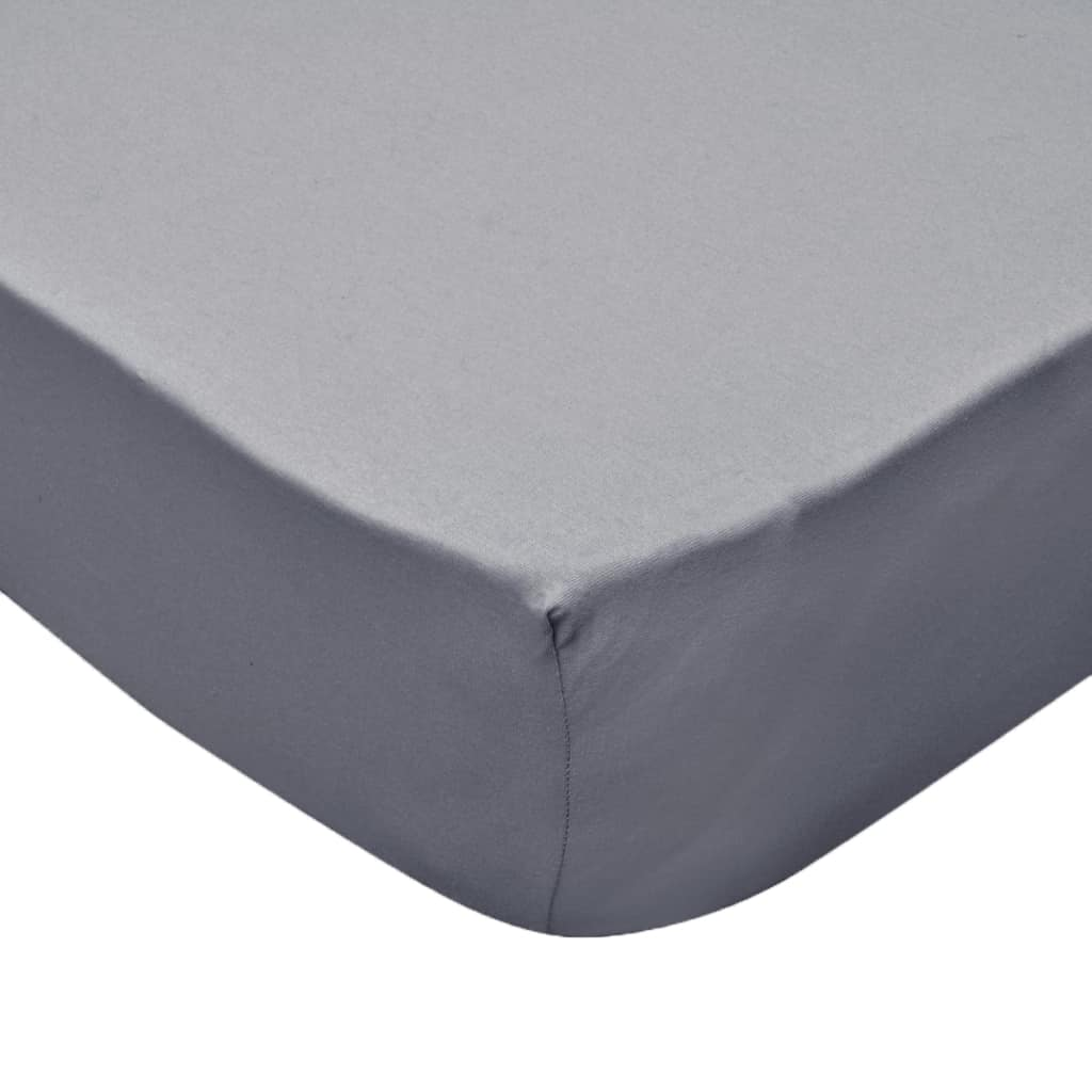 Litedpot Fitted Sheets for Waterbeds 2pcs 180x200 cm Cotton Jersey Grey