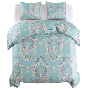 Litedpot Duvet Cover Set Classic Design Blue 200x200/60x70 cm