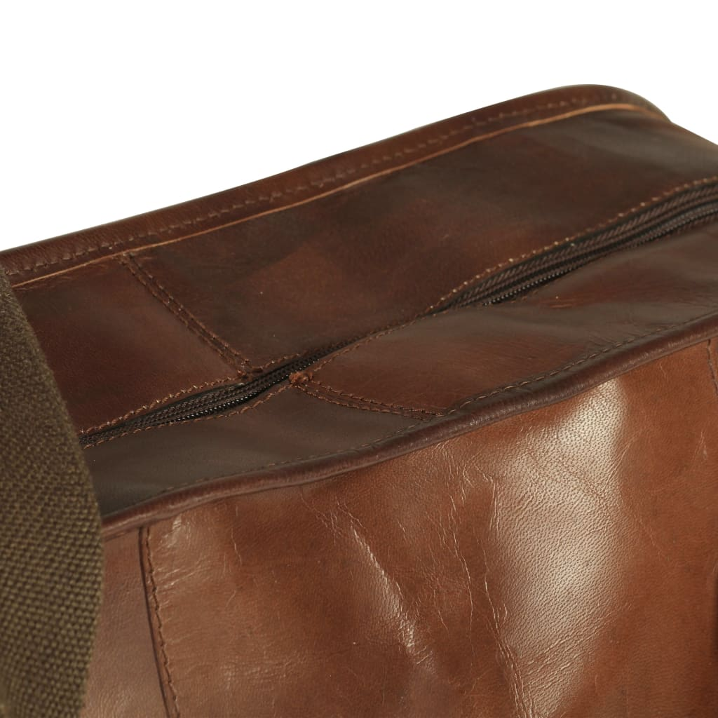 Litedpot Weekend Bag Real Leather Brown