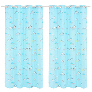 Litedpot Children's Printed Blackout Curtains 2 pcs 140x240cm Zebra