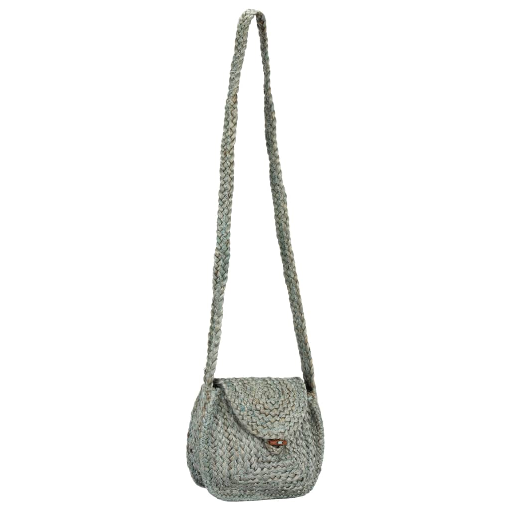 Litedpot Shoulder Bag Green Handmade Jute