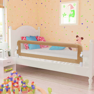 Litedpot Toddler Safety Bed Rail Taupe 150x42 cm Polyester