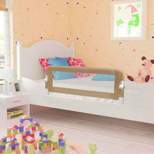 Litedpot Toddler Safety Bed Rail Taupe 120x42 cm Polyester