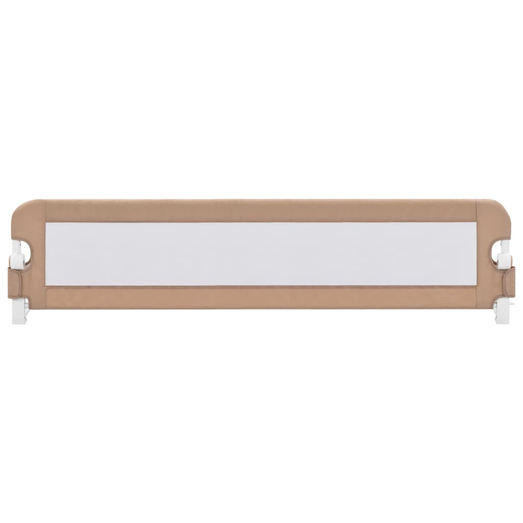 Litedpot Toddler Safety Bed Rail Taupe 180x42 cm Polyester