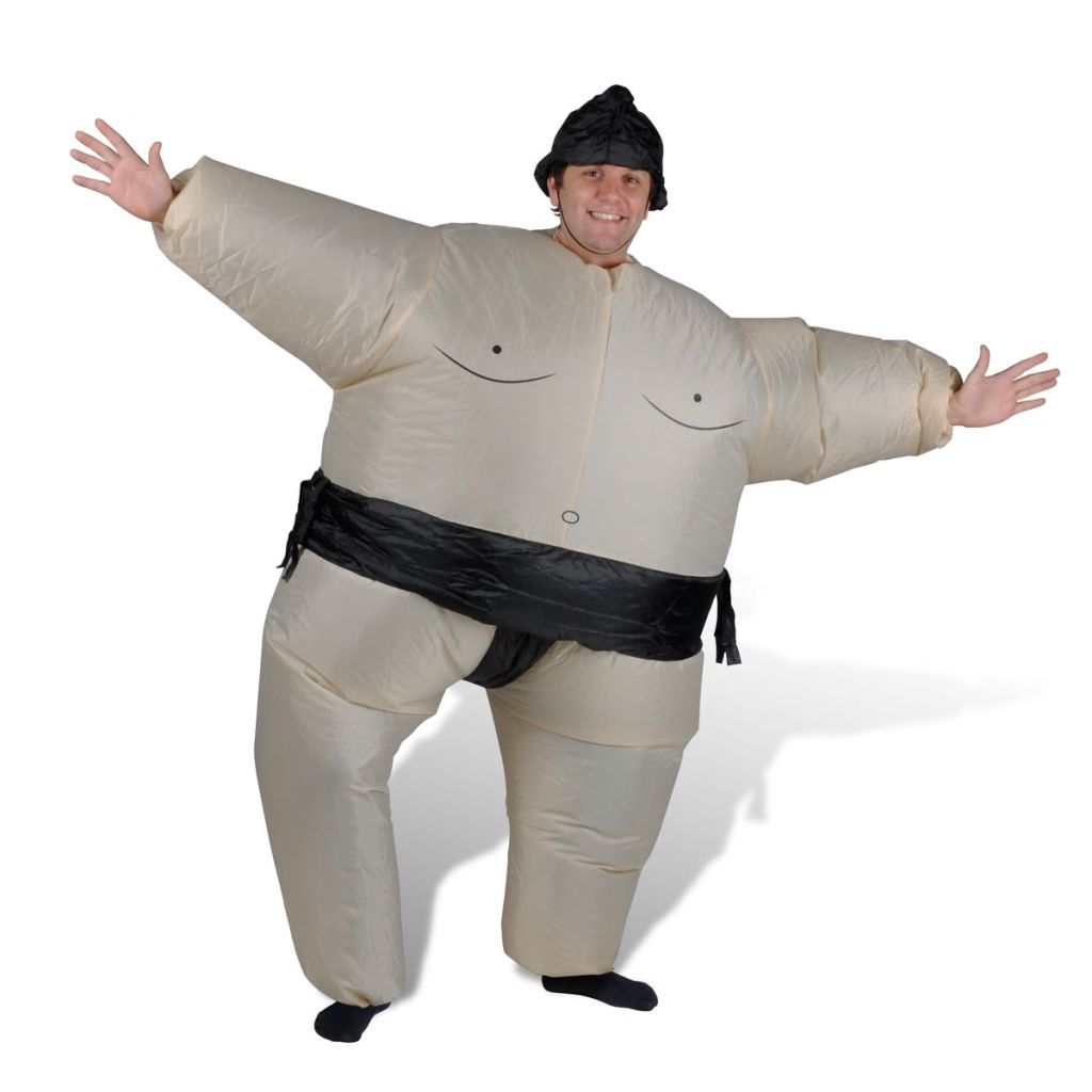 Litedpot Inflatable Sumo Wrestler Costume Party Fun
