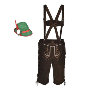 Litedpot Lederhosen Size L With Hat For Oktoberfest