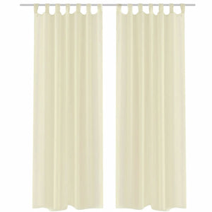 Litedpot Cream Sheer Curtain 140 x 245 cm 2 pcs