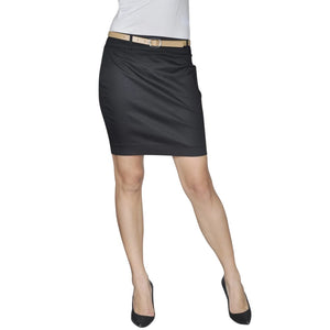 Litedpot Mini Skirt with Belt 36 Black